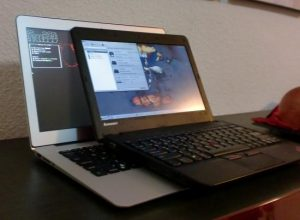 Photo of two laptops