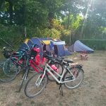 Photo of tents and bicycles